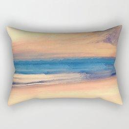 Approaching Sunset Abstract Seascape Rectangular Pillow