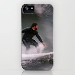 Surfer riding a wave iPhone Case