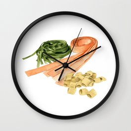 Fresh Pasta Wall Clock