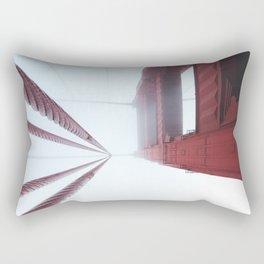 Golden Gate Bridge fogged up - San Francisco, CA Rectangular Pillow