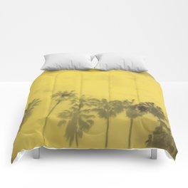 Yellow Palms Comforters