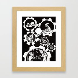 Birth of a Comic Book Artist Framed Art Print