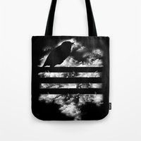 hunting Tote Bags featuring Hunting Symphony by Tobe Fonseca
