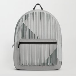 Line art, trippy in gray green metal color Backpack