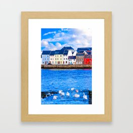 Galway Waterfront On A Winter Morning Framed Art Print