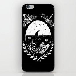 Moon River Marsh Illustration Invert iPhone Skin