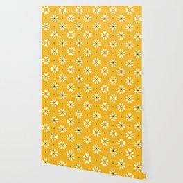 Daisy stitch - yellow Wallpaper