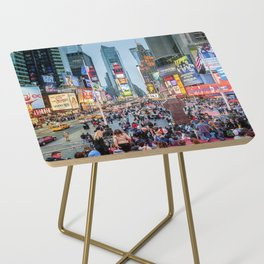 Times Square Tourists Side Table