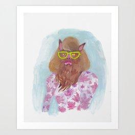 Werewolf Picture Day Art Print