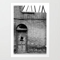 Abandoned [Black & White] Art Print