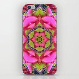 Pink Flower Mandala iPhone Skin