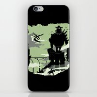 shadow of the colossus iPhone & iPod Skins featuring Silhouette of the Colossus by Piercek25
