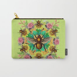 Bee Mandala Carry-All Pouch