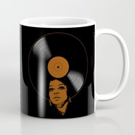 Afrovinyl (Brown) Coffee Mug