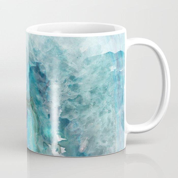 Blue Aqua Agate Kaffeebecher