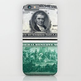 1918 $500 Federal Reserve Marshall Bank Note iPhone Case