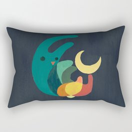 Rabbit and crescent moon Rectangular Pillow