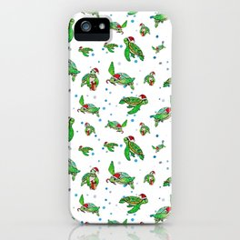 Holiday Sea Turtles iPhone Case