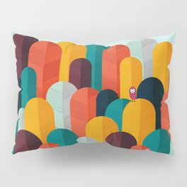 079 - Owly visits the poplar forest in autumn II Pillow Sham