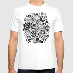 COSMOS Mens Fitted Tee MEDIUM White