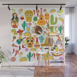 Fiesta Time! Mexican Icons Wall Mural