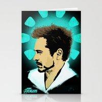 tony stark Stationery Cards featuring Tony Stark. by Tomcert