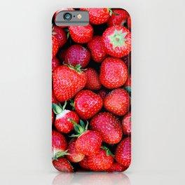Fresh strawberries background iPhone Case