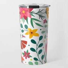 Floral print Travel Mug