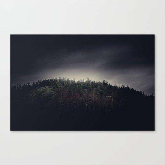 One final mountain to go Canvas Print