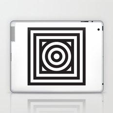 Stripes Circle Square Black & White Laptop & iPad Skin