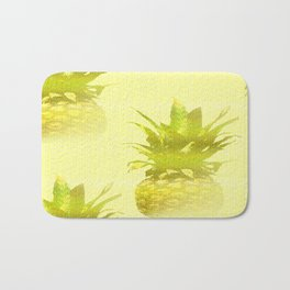 Pineapples Yellow Background #decor #society6 Bath Mat