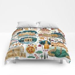Rome map Comforters