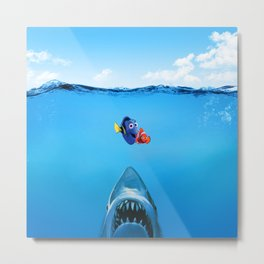 Shark Attack Nemo Metal Print