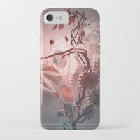 clockwork iPhone & iPod Cases featuring Clockwork Frog by Kate O'Hara Illustration