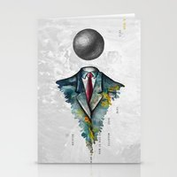 magritte Stationery Cards featuring Mr. Man • René Magritte by Ian Vicknair