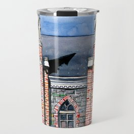 "Brigham City Tabernacle ""Built by Farmers Hands"" Travel Mug"