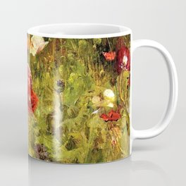 Multi-Color and Red Poppy Fields in Tuscany, Italy by Maria Oakey Dewing Coffee Mug