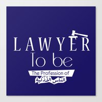 lawyer Canvas Prints featuring Lawyer by Be Raza