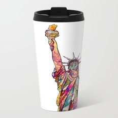 the french gift: statue of liberty Metal Travel Mug