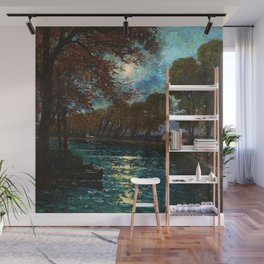 Chemin de Halage along the River Lot, France by Eugene Chigot Wall Mural