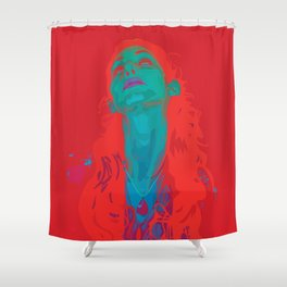 I Sea Red Shower Curtain