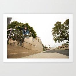 Kevin Offerman. Kickflip Art Print