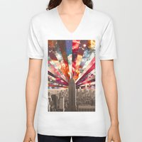 skyline V-neck T-shirts featuring Superstar New York by Bianca Green