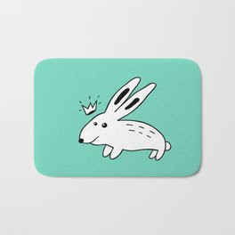 Rabbit with Crown Bath Mat