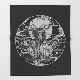 DREAMTIME - BLACK Throw Blanket
