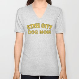 Steel City Dog Mom Unisex V-Neck