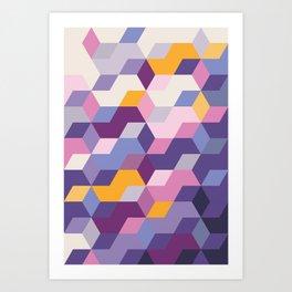 Violet Pattern Art Print