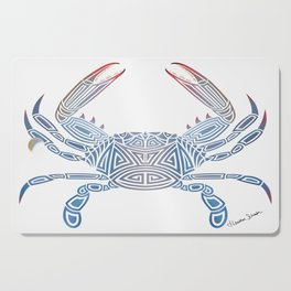 Tribal Blue Crab Cutting Board