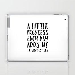 A Little Progress Motivational Quote Laptop & iPad Skin