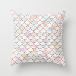 Pastel Memaid Scales Pattern Throw Pillow